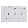 BG WIFI SOCKET RANGE EXTENDER WITH USB 2.1A 2.4GHZ