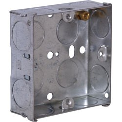 CONTACTUM 1gang 16mm FLUSH STEEL BOX