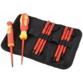 10 PIECE VDE INTERCHANGABLE BLADE SCREWDRIVER SET