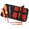 18 PIECE VDE INTERCHANGABLE BLADE SCREWDRIVER SET