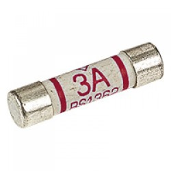 THREE AMP PLUG TOP FUSE. BS1362. NIGLON.